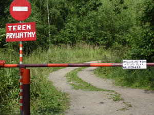 Wędkarz ma wstęp wzbroniony