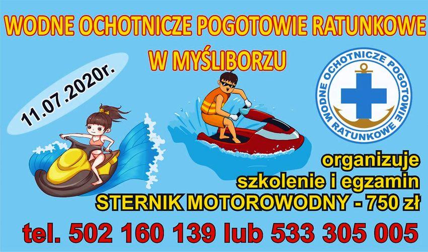 Szkolenie i egzamin na patent - Sternik Motorowy - WOPR Myślibórz